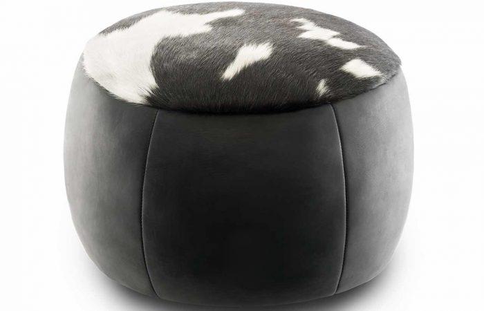 Woola calf leather ottoman
