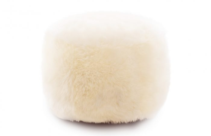 Woola snowball sheepskin ottoman natural