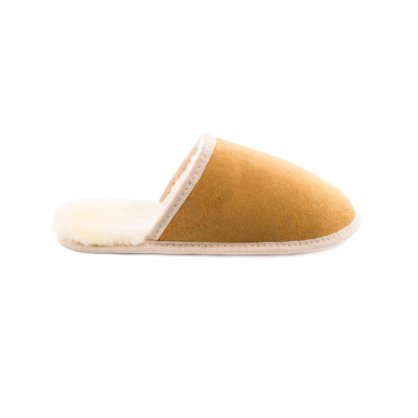 Woola soft sole indoor slipper sheepskin natural